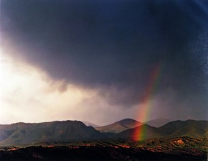 Rainbow over Desert Pass in the Sangre de Cristo Mountains