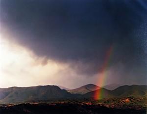 Rainbow over Desert Pass in the Sangre de Cristo Mountains
