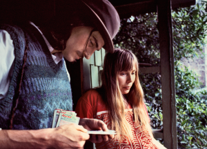 James Taylor & Joni Mitchell, 1971 Photo: Joel Bernstein