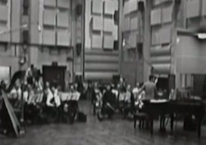 Burt Bacharach & orchestra, 'Alfie' sessions at Abbey Road Studio One, 1965