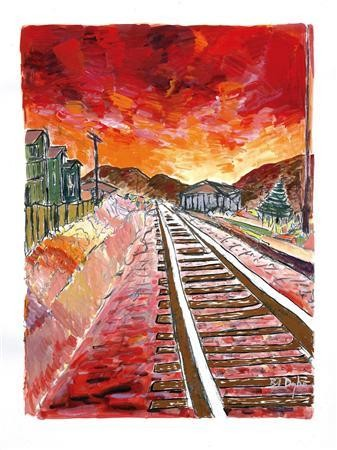Bob Dylan Blood on the Tracks Painting