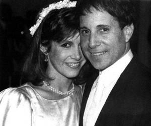 Paul Simon Carrie Fisher Wedding Photo