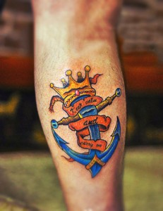 Crown & Anchor Tattoo