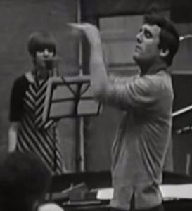 Cilla Black, Burt Bacharach recording 'Alfie'