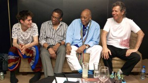 L2R: Jacob, Herbie Hancock, Quincy Jones, Chick Corea